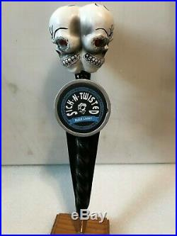SICK AND TWISTED TRIPLE THREAT SKULLS beer tap handle Hill City, South Dakota