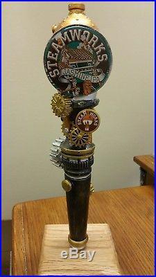 STEAMWORKS JASMINE IPA STEAMPUNK 11-3/4 Beer Tap Handle