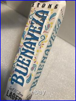 STONE BREWING BUENAVEZA Draft beer tap handle. CALIFORNIA