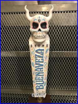 STONE BREWING Co NEW BUENAVEZA Lager Beer Tap Handle SKULL Gargoyle & STICKER