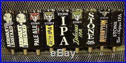 STONE BREWING Lot of 9 NEW Engraved Beer Tap Handles Handle Arrogant Bastard +
