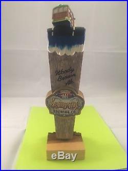 Sandude Brewing Woody Brown Ale Beer Tap Handle Rare Figural Beer Tap Handle