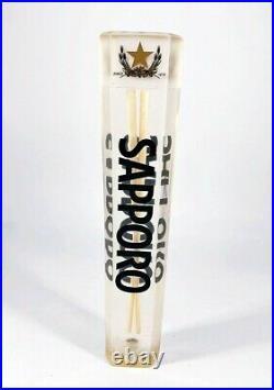 Sapporo Lucite Acrylic Chopsticks Beer Tap Handle Mancave Japan Japanese RARE