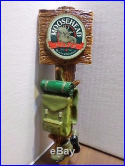Scarce Moosehead Lager Backpack Hiking Excellent 11 Draft Beer Keg Tap Handle
