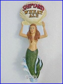 Scarce Shipyard Wheat Sexy Mermaid Shell Beauty 10.5 Draft Beer Tap Handle