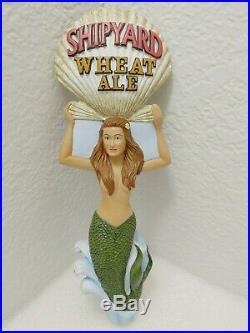 Shipyard Wheat Ale Sexy Mermaid Shell Scarce 10 Draft Beer Keg Tap Handle