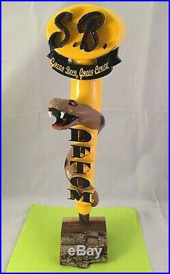 Smittys Brewing DFTOM Beer Tap Handle Rare Figural Snake Beer Tap Handle