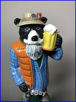 Smokey The Bear Preppy Gatlinburg Brewing Bear Rare Figural Beer Tap Handle