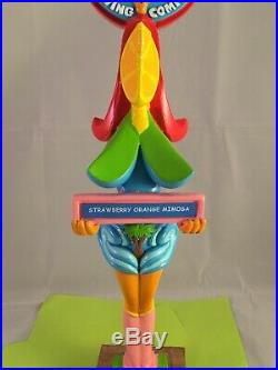 South Beach Brewing Strawberry Orange Mimosa Beer Tap Handle Rare Figural Girl