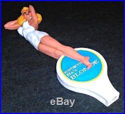 Stunning RARE Huntington Beach Blonde Beer Sexy Woman Vintage Tap Handle