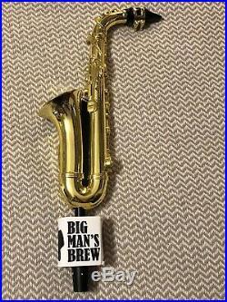 Super Rare Big Mans Brew Signature Tap Handle Saxophone New In Box