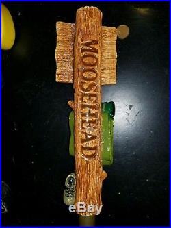 Super Rare Moosehead Lager figural beer tap handle backpack version