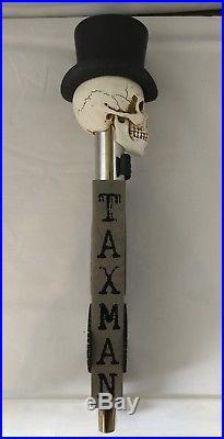 TAXMAN Skull Seasonal 13 Beer Keg Tap Handle Limited Release Craft Beer RARE
