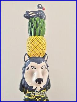 UK Import Howling Hops Bear Wolf Native Indian Totem London Beer Tap Handle