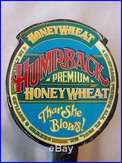 ULTRA RARE Thar She Blows Humpback Premium Honey Wheat Whale Beer Tap Handle