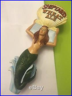 Ultra Rare Shipyard Wheat Ale Mermaid Beer Tap Handle Rare Figural Tao Handle