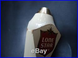VINTAGE 1970's LONE STAR BEER WOOD TAP HANDLE 12.5 TEXAS KEG BREWERY