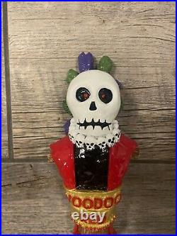 VOODOO RED with LED eyes 3D Figural Tap Handle NEW Brick Brewing Co Halloween