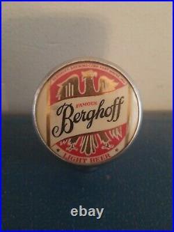 (VTG) 1930s befghoff beer ball knob chrome tap handle for Wayne Indiana