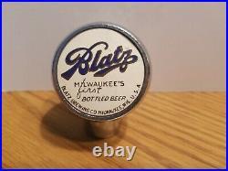 (VTG) 1930s blatz beer ball knob chrome tap handle wis rare