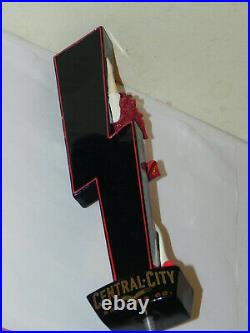 Very Rare Central City Brewing Red Racer Beer Tap Handle Pretty Girl Red Skirt