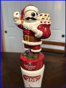 Very Rare & New National Bohemian Natty Bo Santa Beer Tap Handle
