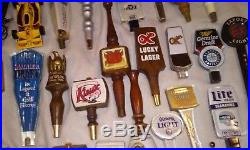 Vintage Beer Tap Handles Lot of 55+ LUCKY HAMMS BLITZ OLY BUDWEISER