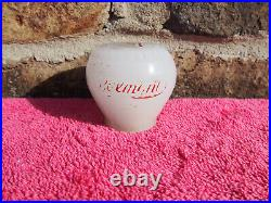 Vintage Belmont Brewing J. E. Newman Glass Beer Knob Tap Handle Martins Ferry's