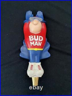Vintage Budweiser Bud Man Flying Budman Beer Tap Handle
