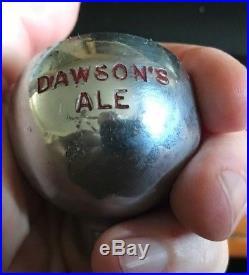 Vintage Dawson's Ale Ball Beer Tap Knob / Handle Dawson Brewing New Bedford Ma