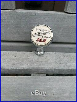 Vintage Early NARRAGANSETT Beer Porcelain Ball Beer Tap Handle Shift Knob