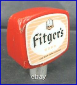 Vintage Fitger's Beer 2 sided tap handle DULUTH MN Minnesota Lighthouse 2 3/4