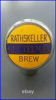 Vintage Gettelman Rathskeller Beer Ball Knob Tap Handle 1930's Milwaukee, WI