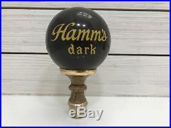 Vintage Hamms Dark Beer Ball Tap Handle Shifter Knob Advertising HTF