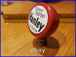 Vintage Hanley Lager Beer Tap Handle Knob, Triple Tested