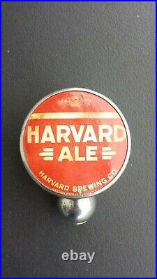 Vintage Harvard Ale Beer Ball Knob Tap Handle 1940's Lowell, Massachusetts