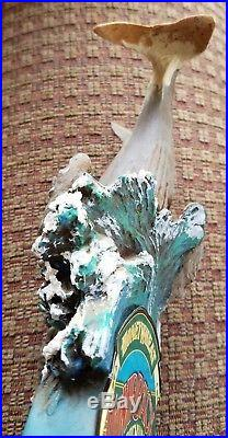 Vintage Humpback Honeywheat Lager Ale Tap Handle with Whale and Baby RARE