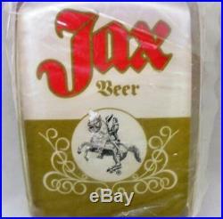 Vintage Jax Beer Lucite Tap Handle withAndrew Jackson Logo New Original Package