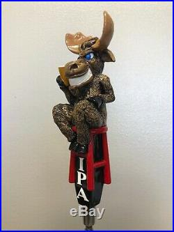 Vintage Main Str. Brewery BLUE EYED MOOSE Full 3D Tap Handle RARE/NEW condition