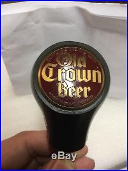 Vintage Old Crown Beer Ball Tap Knob Handle Fort Wayne, Indiana