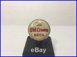 Vintage Old Crown Beer Tap Knob / Handle Centlivre Brewing Co Fort Wayne Ind