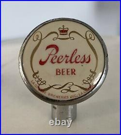 Vintage PEERLESS BEER BALL TAP KNOB HANDLE TAPPER LaCrosse Breweries Wisconsin