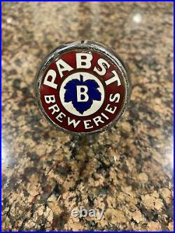 Vintage Pabst Blue Ribbon Beer Ball Knob Tap Handle 1930's Red Milwaukee, WI