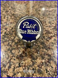 Vintage Pabst Blue Ribbon Blue Ball Knob Tap Handle 1930's Milwaukee, WI