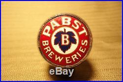 Vintage Pabst Breweries Ball Tap Knob Robbins Antique Beer Handle