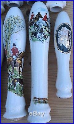 Vintage Porcelain Hand Pull Beer Pump Tap Handle British Pub Bar Hunting + Other