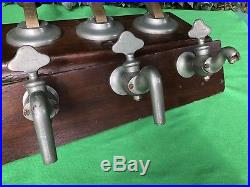Vintage Rare Gaskell & Chambers Super Dalex 3 Handle Beer Tap Pulls On Wood