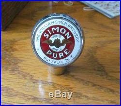 Vintage Simon Pure Beer Ball Tap Knob / Handle William Simon Brewing Buffalo Ny