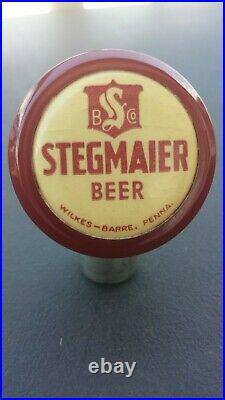 Vintage Stegmaier Beer Ball Knob Tap Handle 1940's Wilkes-Barre, Penn