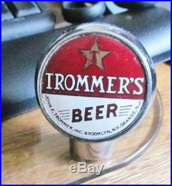 Vintage Trommer's Beer Brewing Ball Tap Knob / Handle Brooklyn Ny Orange Nj